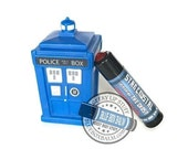 Star Crystal - Sugared Cherry Flavor Doctor Who Inspired Lip Balm Geek Stix w/Shimmer & Gem - The Ghost