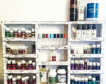 Essential Oil Shelf, oil rack, wood shelf, oil storage, hanging wall shelf, nail polish rack, spice rack, unique gift, home decor