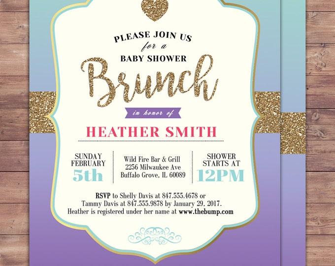 Spade party, invitation,  bridal shower invitation, brunch, invite, sweet 16, birthday invitation, wedding, baby shower, couples shower