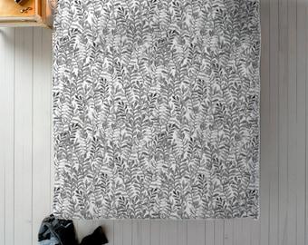 Grey Watercolor Duvet - Grey Bedding in Twin, Queen or King Duvet Cover