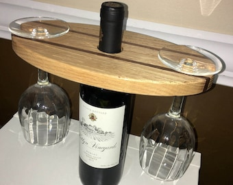 Handmade Wood Wine Display