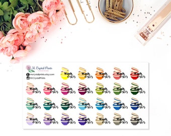 Wash The Dishes Planner Stickers (26 Stickers)