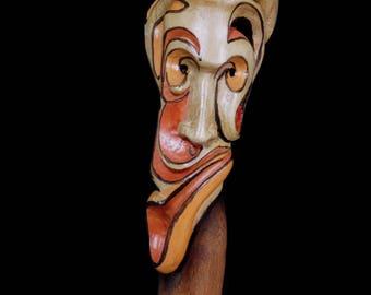 Sculpture hand carved wood alibustre - Easter
