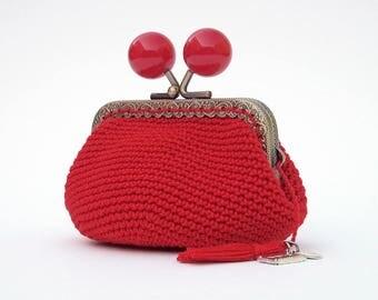 Monedero crochet etsy for Monedero ganchillo boquilla ovalada