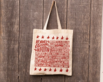 Hamilton Tote Bag // Hamilton Quote Bag // Musical Theater Tote //
