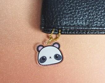 Kawaii Panda Bear Acrylic Planner Charm- Kikki K, Filofax, Keychain