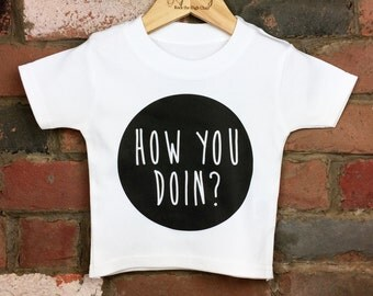 How You Doin Baby Tee, Funny Baby Clothes, Unique Baby Gift, Baby Shower, Friends Tribute Clothing, Baby TShirt, Baby Top, Cool Kids Clothes