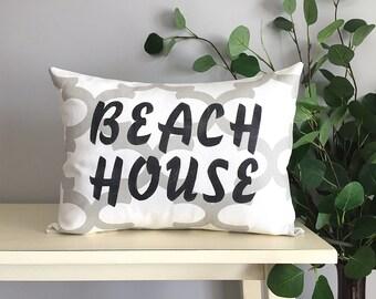 Beach House Pillow, Decorative Pillow, Rustic Home Decor, Accent Pillow