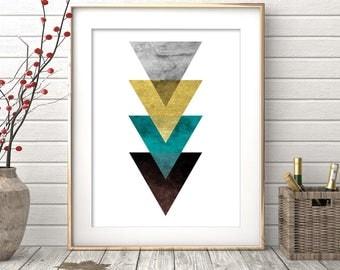 Triangle Print, Printable Art, Geometric Art print, Abstract Wall Art, Geometric Art, Art Poster, Minimalist Art, Scandinavian Design