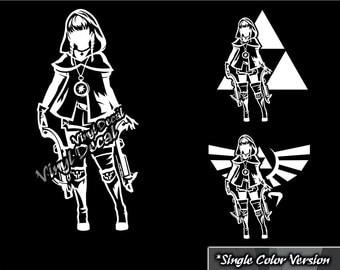 Linkle Vinyl Decal (The Legend of Zelda Series) *Single Color Version*