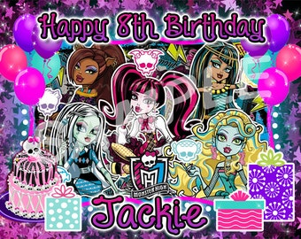 Monster High Edible Cake Image Topper on Frosting and Icing Sheets