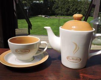 Tim Hortons Always Fresh Tea Set - Tea Pot with Tea Cup & Saucer