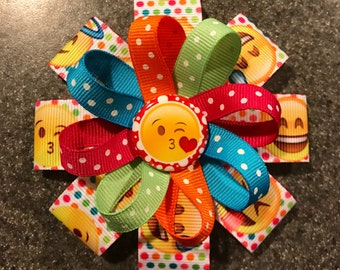 Emoji Headband or Hair Bow - 2 sizes