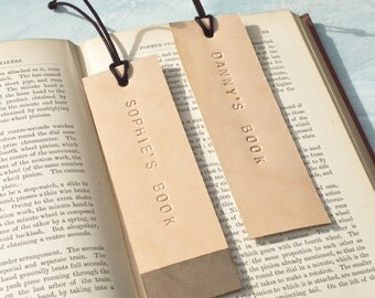 Personalised Natural Leather Book Mark