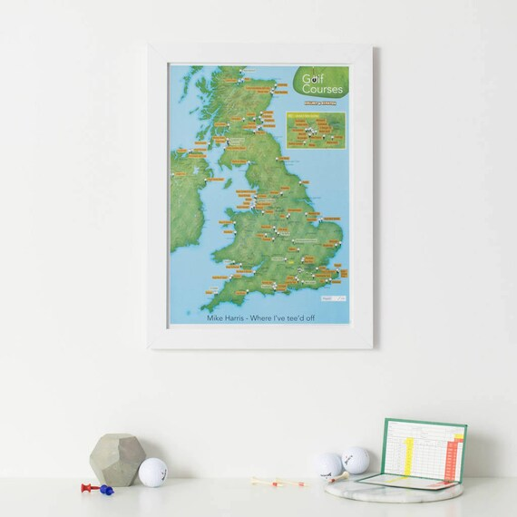 Scratch off uk golf courses print gift gift for him gift like this item gumiabroncs Images