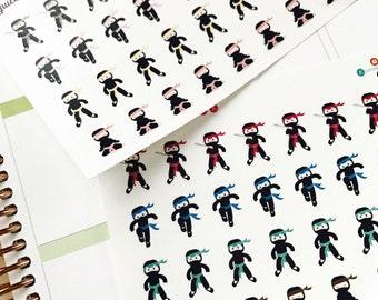 Set of 32 Ninja Martial Arts Stickers