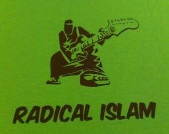 Kid's T-Shirt Radical Islam (Guitar) Screen Print in Kids S-L