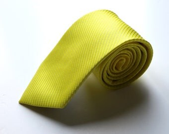 Men's Yellow Neck Tie, Men's Neck Tie, Mens Pattern Tie