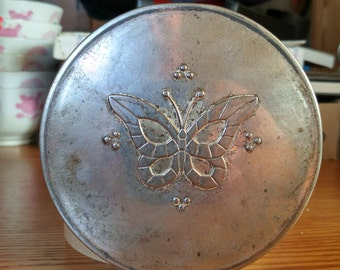Butterfly makeup compact by Wilby Brooklyn NY. made in USA