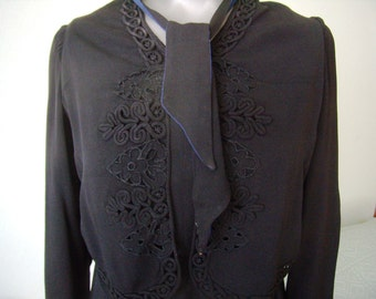 The 1920/30's vintage, wedding, dress evening dress, hand embroidery
