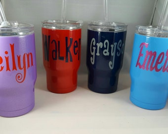 Powder Coated Cup,  Free Monogram, Powder Coated,  Stainless Steel,  14 oz Kids Stainless
