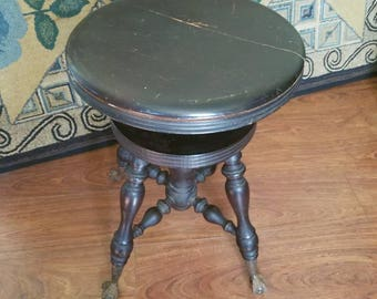 Play Me a Tune/ Piano Stool/ Ball and Claw foot/ Turn of Century/ New York