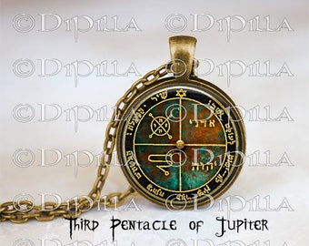 Third Pentacle of Jupiter King Solomon Sigil Pendant