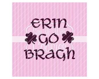 "Erin Go Bragh St. Patrick's Day 5.5 x 5.5"" Stencil"