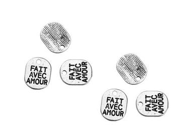 20 charms fact lovingly 10x8mm