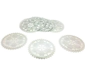 10 hearts 56x55mm silver Platinum prints