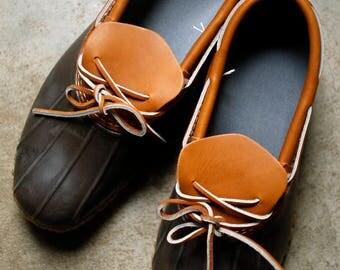 Vintage LL Bean Gumshoe Size 10 / Maine Hunting Shoe Bean Boot / Classic Rain Shoe Mud Boot Hiking Shoe / Americana made in USA