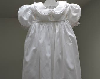 White Yoke dress with embroidery insert