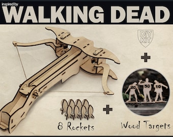 The Walking Dead Inspired Gift For Men. Crossbow Gift For Him, DIY Kit, Hunting Gift, Gift For dad, Post Apocalyptic, Father's Day Gift, Dad