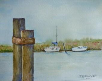 Florida Watercolor, original watercolor, coastal watercolor