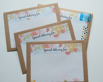 Mailing labels flowers - Special Delivery