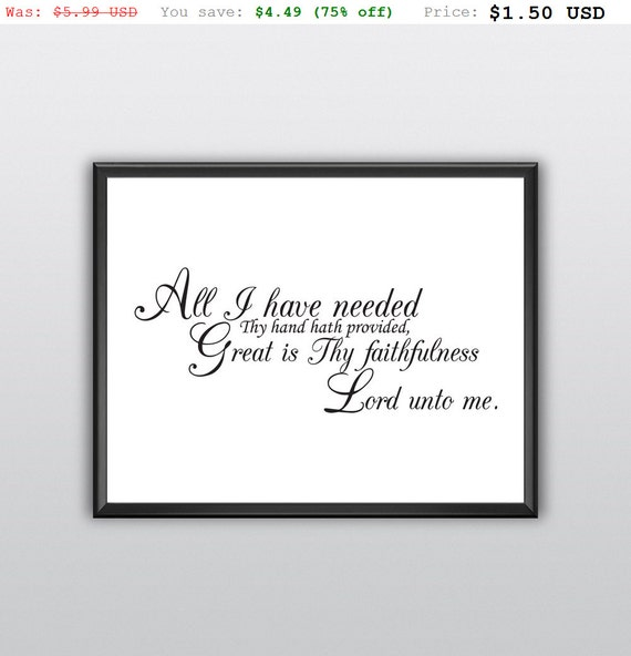 75% off All I Have Needed Quote Wall Decor Lord Unto Me Scripture Print Bible Verse Wall Art Printable Prayer Nursery Wall Print (T195)