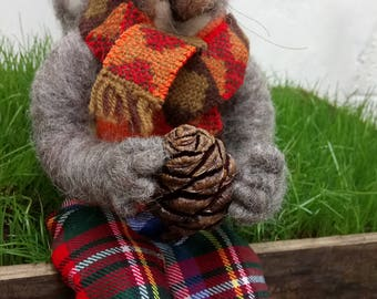 Needle felted squirrel - Franklin the squirrel