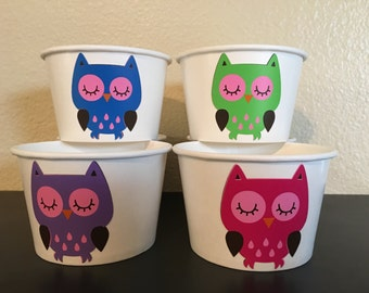 Owl Party Snack Cups