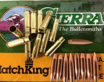 300 BLACKOUT Lake City Brass & Sierra 220gr subsonic .308- 100 piece reloaders COMBO