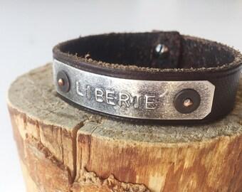 Leather Liberte Bracelet
