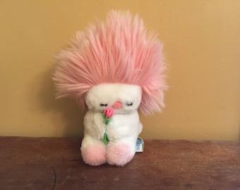 Vintage Dakin Frou Frou Plush Creature/Pink Frou Frou