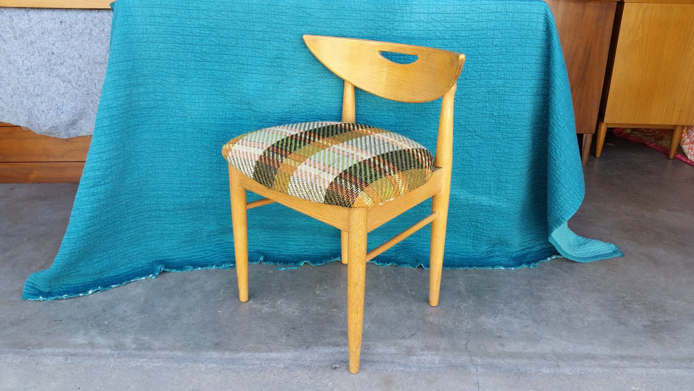 Vintage 1960\'s Danish Style Vanity Chair Mid Century