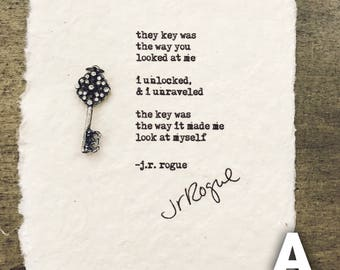 The Key Was - Printed Poem