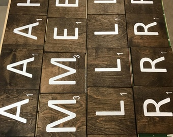 Large scrabble tiles 5x5 & 7x7 Not Vinyl!!!  FREE Shipping on 4+ tiles!!!!!!