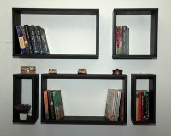 Handmade bookshelf,set of five shelf