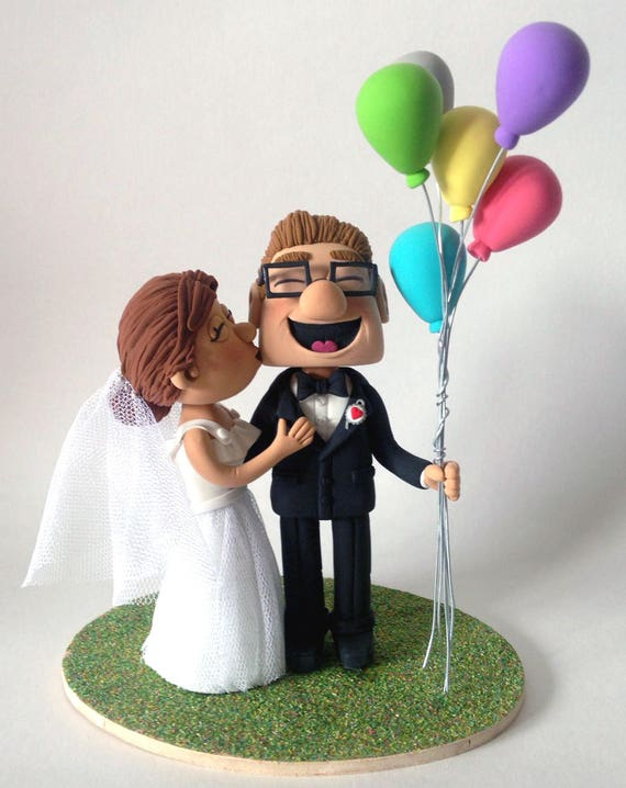 disney up carl and ellie chairs wedding cake topper carl amp ellie fredricksen up pixar caketopper wedding doll 13574