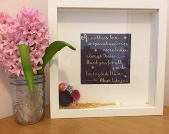 Beautiful framed quote