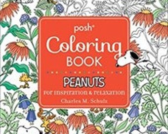 Posh Adult Coloring Book: Peanuts for Inspiration & Relaxation (Paperback)