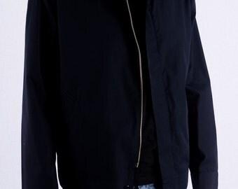 Vintage bomber jacket gr. M 50 Blue 90s jacket 70s classy bomber jacket hipster bloggers