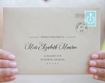 Envelope Template Envelope Address Template Wedding Envelope - Wedding invitation envelope address template